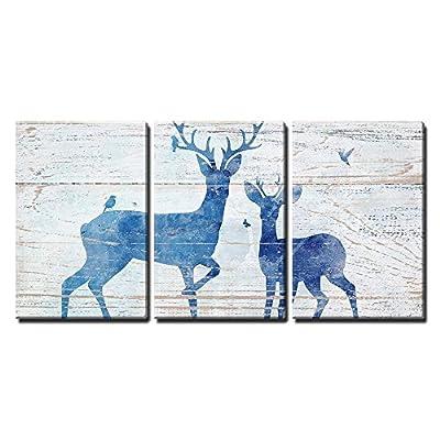 Rustic Deer And Birds - Canvas Art