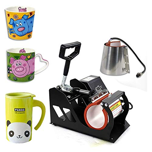 F2C Digital Transfer Sublimation 2 in 1 Mug Cup Heat Transfer Press Heat Press Machine for Mugs Cup W/Two Mug Attachments 11OZ 12OZ
