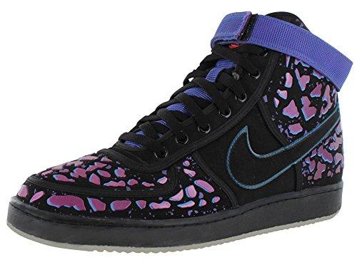 Nike Vandal Premium QS da uomo hi top trainers 597988Scarpe da ginnastica Black, Black-ttl Crmsn-vlt Frc