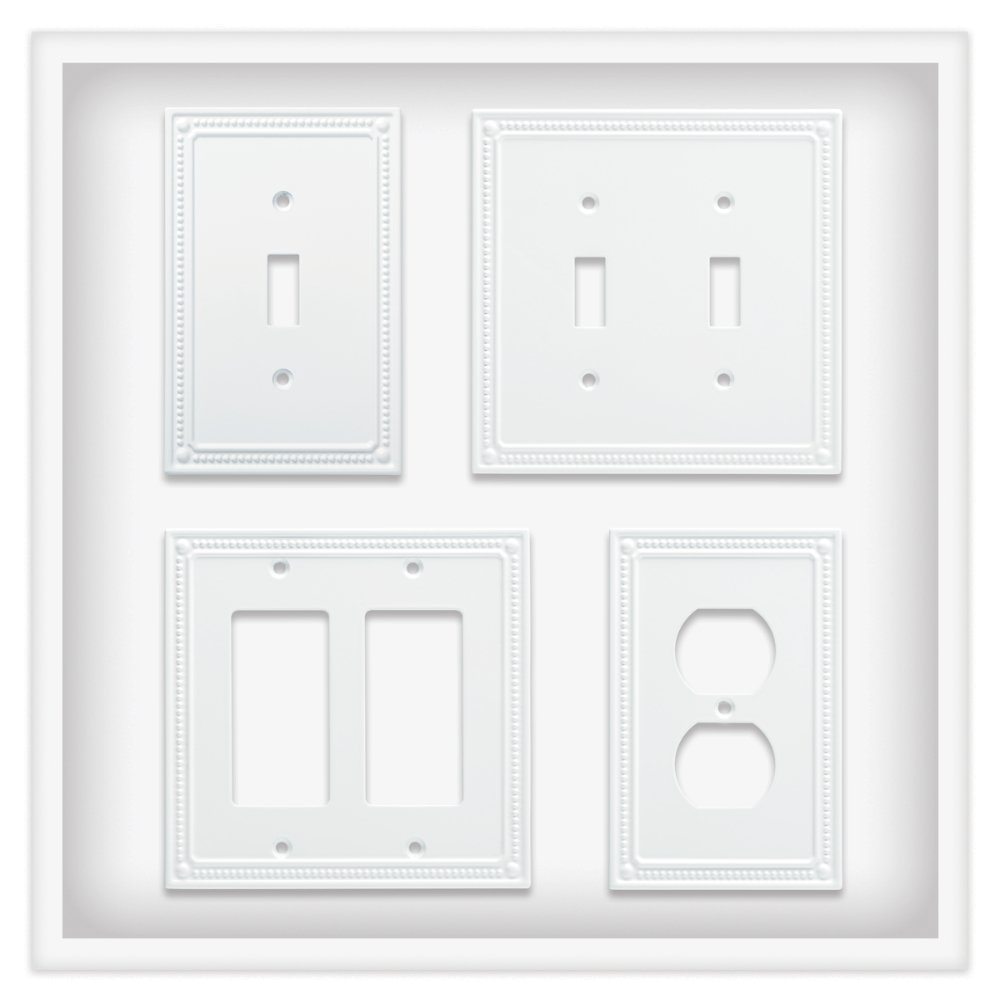 Satin Nickel Liberty Hardware Manufacturing Corporation Franklin Brass W35063-SN-C Classic Beaded Switch//Decorator Wall Plate//Switch Plate//Cover