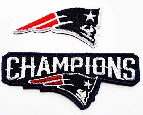 - Champions Patriots Football Patches Sport Team Logo Applique for Clothes Great as Happy Birthday Gift