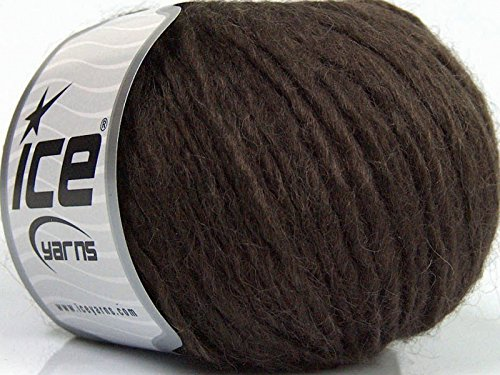 - Peru Alpaca Bulky - Dark Brown Merino Wool Alpaca Acrylic Blend Yarn 50gr