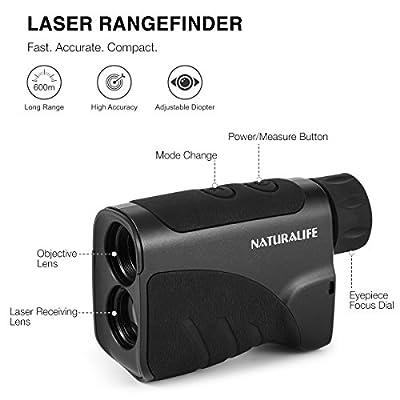 Naturalife Golf Laser Rangefinder, Hunting Laser rangefinder, Multifunctional Vertical Range Finder for Outdoor Activities, 656 Yard Range from Naturalife