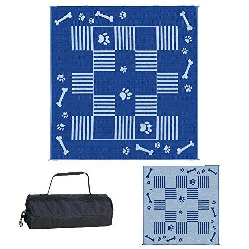 (Ming's Mark DA3 Blue 9-Feet x 9-Feet Dog Paw / Bone Mat)
