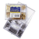Darice 1972-08 Nickel Free Silver Finding Starter Kit in Clear Box