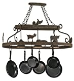 Meyda Tiffany 150295 - 46'' L Barn Animals W/Downlights Pot Rack. Custom Crafted In Yorkville - New York Please Allow 30
