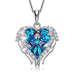 Pendant With Embellished Blue With Sterling Silver Crystal from Swarovski