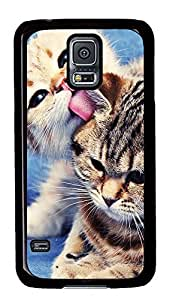 Samsung Galaxy S5 Two Cute Cats PC Custom Samsung Galaxy S5 Case Cover Black
