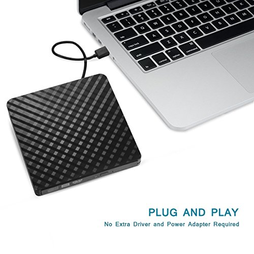 External DVD Drive Player for Laptop, Sibaok USB 3.0 External CD Optical Drive, Slim Portable CD-RW DVD-R Combo Burner Writer Player for Notebook PC Desktop Computer, Black by Sibaok (Image #6)