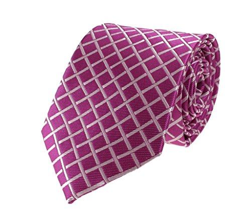 (Glennbrook Mens Necktie Geometric Grid Pattern Collection Fashion Tie -)