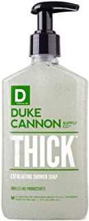 product image for Duke Cannon Supply Co. - THICK Exfoliating Shower Soap, Smells Like Productivity (9 fl oz) High Viscosity Paraben and Phthalate Free Shower Gel Body Wash - Fresh, Energizing Mint