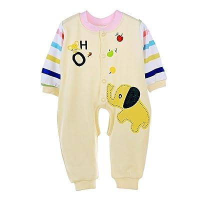 43dd31b3b35a9 Susenstone Bébé Enfants Barboteuse Combinaison Body Coton Vêtements Costume  (Asian 59 (0-3M)