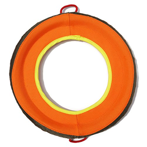 Dog Frisbee – Soft Floating Flying Disc Play Toy for Pet – Fabric Flyer for Outdoor Exercise and Fun, 9 inch