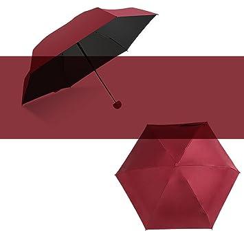 Mini cápsula paraguas súper ligero pequeño plegable con cápsula caso Anti ultravioleta impermeable 5 paraguas plegable