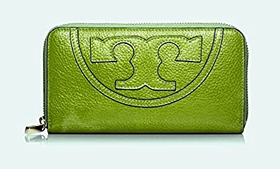 36277e9ade Image Unavailable. Image not available for. Color: Tory Burch 21149430  Pebbled Leather All T Zip Around Continental Wallet ...