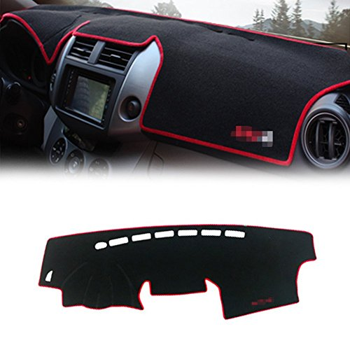 (GTINTHEBOX Custom Fit Dashboard Black w/Red Rim Center Console Cover Dash Mat Protector Sunshield Cover Pad for 2009 2010 2011 2012 Toyota RAV4)