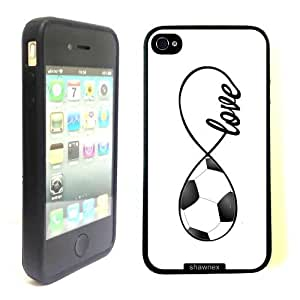 SudysAccessories Soccer Love Soccer Infinity Love Thinshell Case Protective iPhone 4 Case iPhone 4S Case