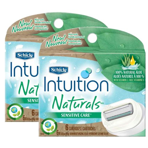 Schick Intuition Naturals Sensitive Care Razor Refill - 12-Count by Schick
