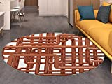 Industrial Print Area rug Knot of Pipes Complex Design with Entangled Lines Hardware Industry Art Perfect for any Room, Floor Carpet Bronze and White