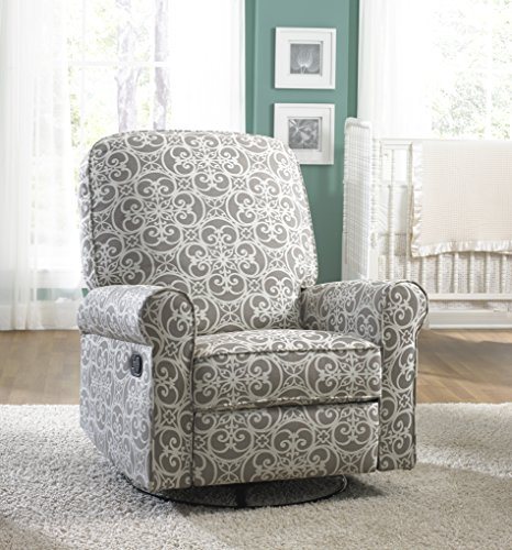 pulaski ashewick swivel glider recliner doodles ash - Swivel Recliner Chairs For Living Room