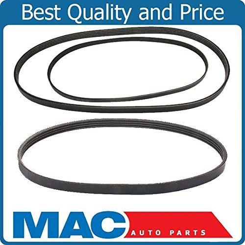 Steering Power Civic Honda (Mac Auto Parts 10379 Serpentine Fan Belt Alternator AC Power Steering Belts Kit Fit Honda Civic)