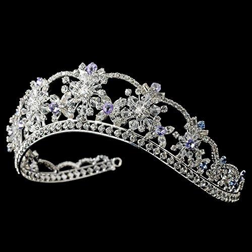 Nicole Swarovski Crystal Light Blue & Amethyst Wedding Bridal Tiara by Fairytale Bridal Tiara