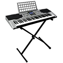 Best Choice Products 61 Key Electronic Music Keyboard Electronic Piano with X Stand LCD Display Screen