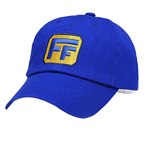 Xcostume Fix It Felix Hat Wreck-It Ralph Baseball Cap Adjustable Blue Embroidered Casual Headwear]()