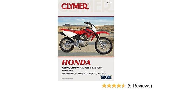 amazon com 92 03 honda xr100 clymer service manual misc automotive rh amazon com honda crf 80 owners manual honda crf 80 service manual