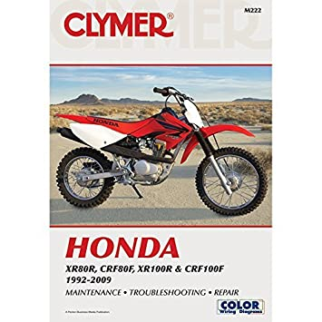 amazon com 92 03 honda xr100 clymer service manual misc automotive rh amazon com 2007 Honda Crf80 2005 Honda 150 All-Black Dirt Back