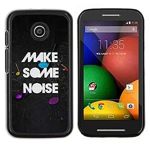 Caucho caso de Shell duro de la cubierta de accesorios de protección BY RAYDREAMMM - Motorola Moto E - Hacer Partido Cita ruido Moment Música en vivo