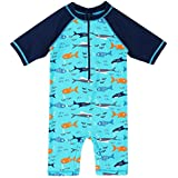 BAOHULU Boys One-Piece UPF 50+ UV Surfing Swimming Bathing Swimwear