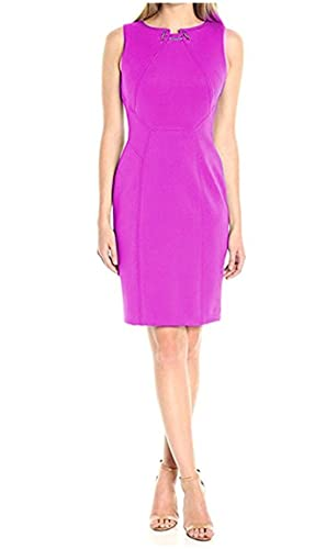 Ivanka Trump Women's Scuba Toggle Dress, Fuschia