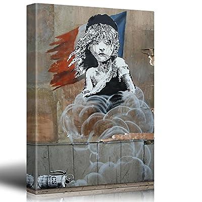 Print Les Miserables Banksy Street Art Graffiti Calais Refugee Tear Gas Political Statement French Flag