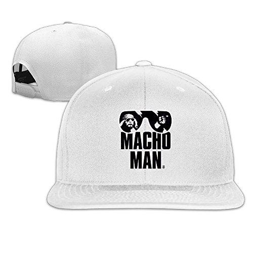 Macho Man Hat (Macho Man Randy Savage Plain Caps Strapback Fitted Hat)