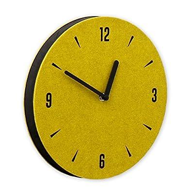 "THEHAKI Sandwich Clock 9"" Felt Silent Quartz Non-ticking Simple Light Colorful Wall Clock (230 Felt, Yellow Green) - Material: Felt, EVA Size: 9""Dia x 0.8""Deep Very light(0.44lb) and safe sandwich style clock - wall-clocks, living-room-decor, living-room - 51JMl3PZ6ML. SS400  -"