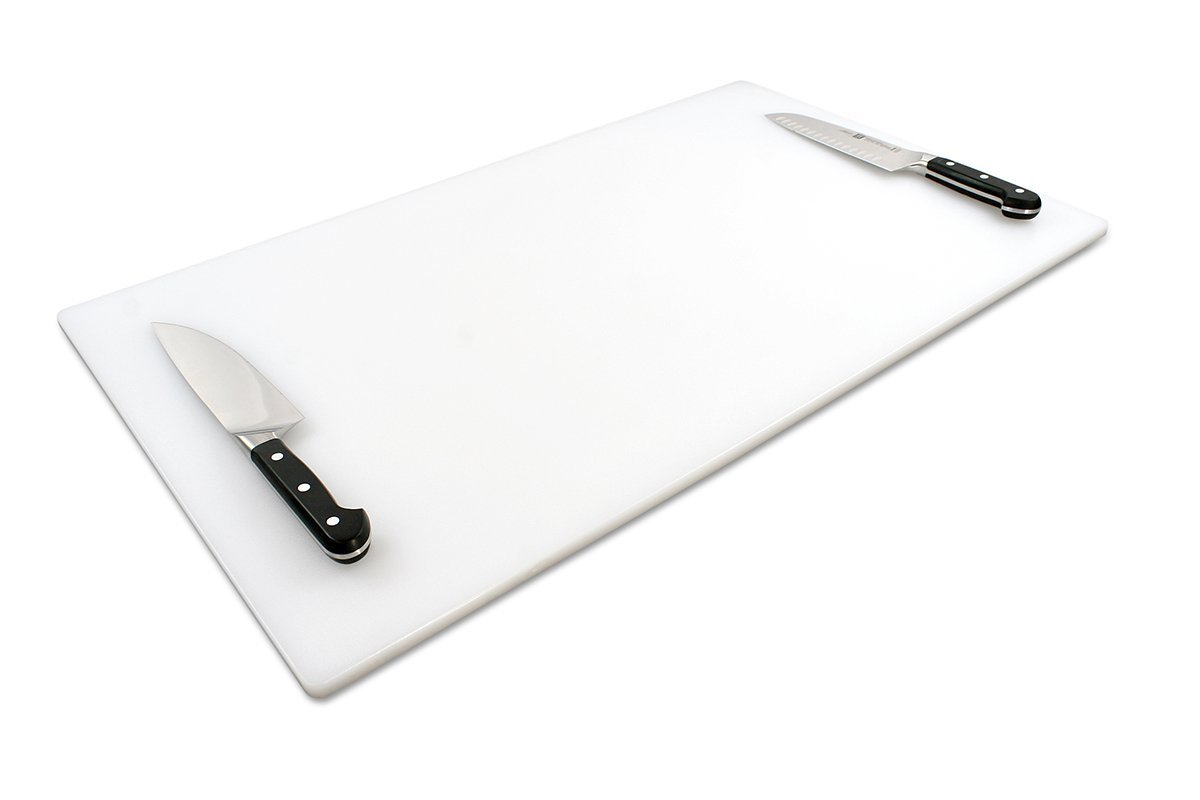 Commercial Plastic Cutting Board for Kitchens, Extra Large 30 x 18 x 0.5 Inch, NSF, FDA Approved by Thirteen Chefs