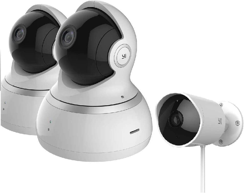 YI Dome/Outdoor Home Security Bundle Set, Cloud Service Available for Home,Office, Retail, Pet Monitor