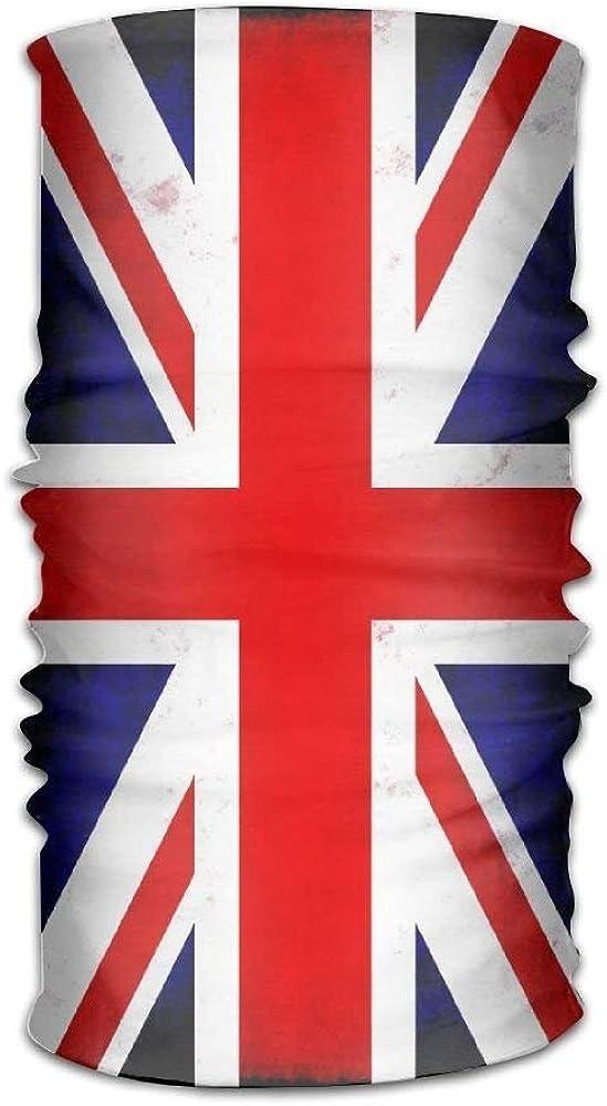 Unisex Stylish Union Jack British Flag UK Quick Dry Microfiber Headwear Outdoor Magic Bandana Balaclava Neck Gaiter Head Wrap Headband Scarf Face Mask Ultra Soft Elastic Handscarf