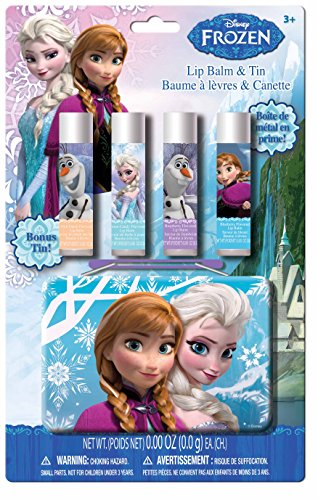(Frozen Lip Balm with Collectible Tin, Fruit Punch/Raspberry, 5 Count )