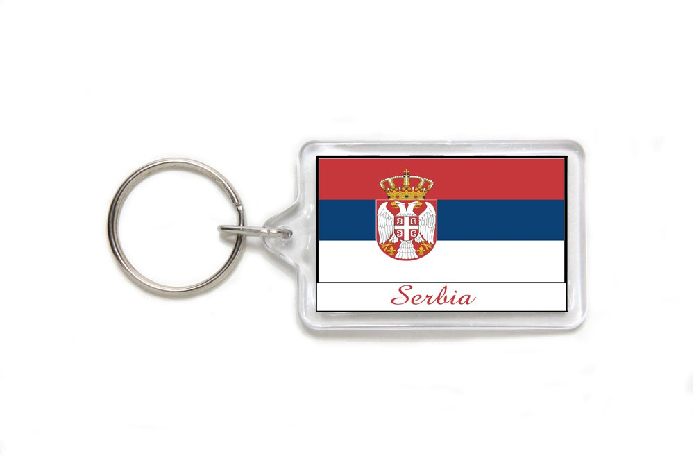 Italy Italian  Flag Acrylic Key Ring 3 Sizes Double Sided Keychain