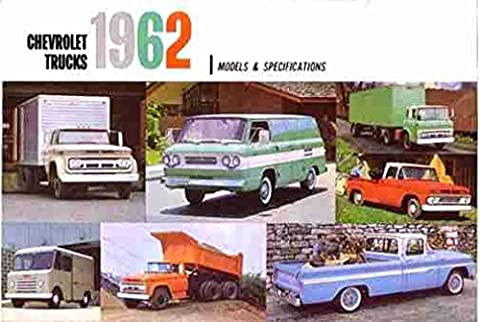 A MUST FOR OWNERS 1962 CHEVY TRUCKS & PICKUPS BEAUTIFUL & HISTORIC DEALERSHIP SALES BROCHURE - ADVERTISMENT Includes Corvair 95, Chassis Cab, Gas & Diesel, Forward Control, Bus, Tandem, Stake, Panel, Carryall - CHEVROLET (Diesel Heaters For Sale)