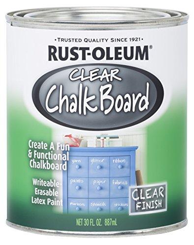 Rust-Oleum 284469 Specialty Chalkboard Paint, 30-Ounce, Clear