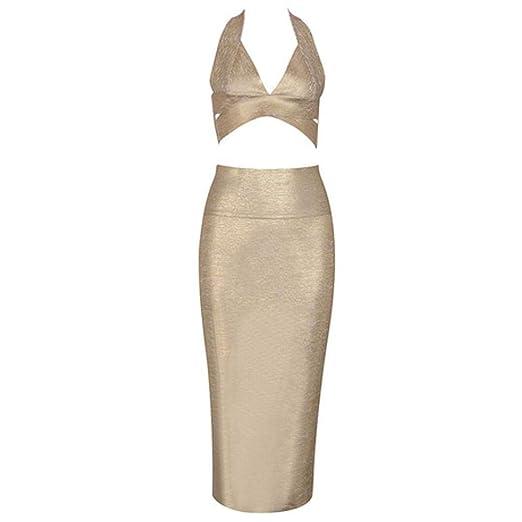 SQY Vestido Ajustado Traje de Dos Piezas para Mujer Vestido de ...