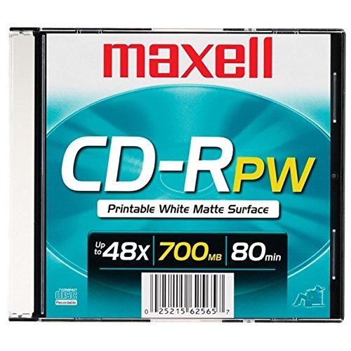 Maxell MAX648721 CD Recordable Media, CD-R, 48x, 700 MB, 1 Pack