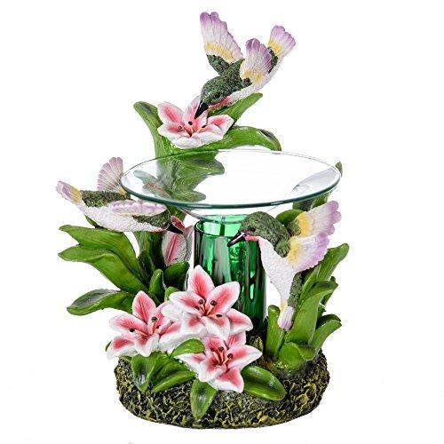 Hummingbird Oil Burner - Wax Melter - Illuminating Light & Great Aroma - Poly Resin Material