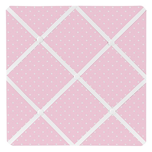 Fabric Photo Board (Sweet Jojo Designs Pink Polka Dot Fabric Memory/Memo Photo Bulletin Board for Mod Dots Collection)