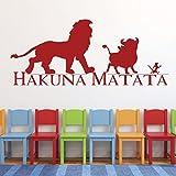 kids playroom ideas Hakuna Matata Wall Decal - Vinyl, Lion King Decor, Simba, Pumba and Timon, Good Friends, Lion King Nursery Theme, Playroom Decor, and Boys Bedroom Ideas