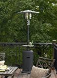 AZ Patio Heaters HLDS01-WCBT Tall Patio Heater with Table, 87-Inch, Hammered Silver