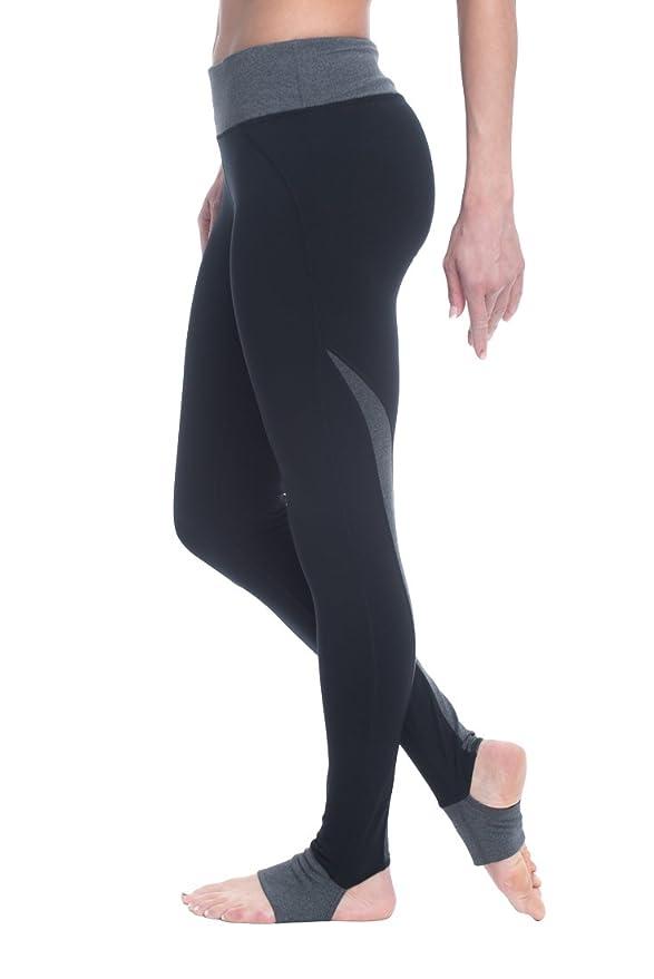 1d9dc972e5d55 Amazon.com: Gaiam Women's Om Panel Barre Legging Performance Spandex  Compression Stirrup Pant - Black Tap, X-Large: Clothing
